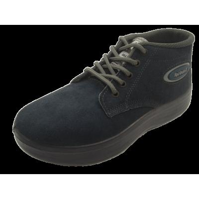 کفش مردانه چرم  نیم بوت کوهستان نیلی ارسال رایگان