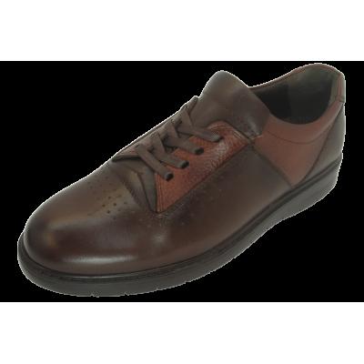 کفش مردانه چرم طبیعی پولیشی رویال بندی قهوهای  ارسال رایگان با گارانتی