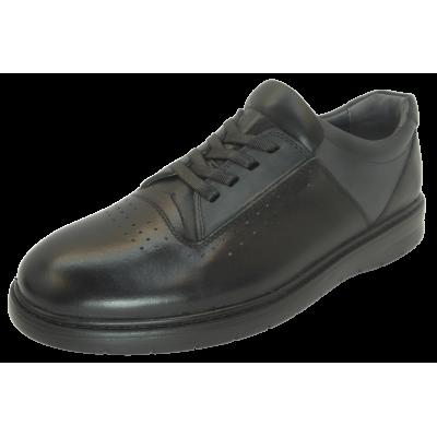 کفش مردانه چرم طبیعی پولیشی رویال بندی مشکی ارسال رایگان با گارانتی
