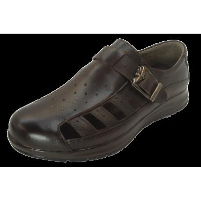 کفش مردانه چرم طبیعی  تابستانی طبی آتا قهوه ای ارسال رایگان با گارانتی