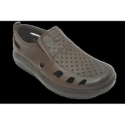 کفش مردانه چرم طبیعی  تابستانی آیسان قهوه ای ارسال رایگان با گارانتی
