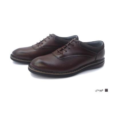 کفش مردانه چرم طبیعی آتیلا قهوهای  ارسال رایگان با گارانتی