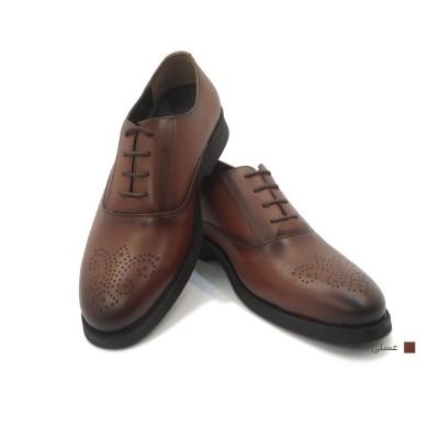 کفش مردانه چرم طبیعی کلاسیک بوته عسلی  ارسال رایگان با گارانتی
