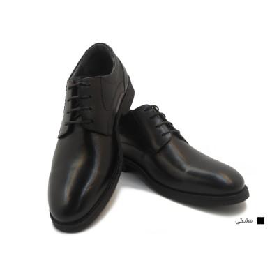کفش مردانه چرم طبیعی کلاسیک ساده مشکی  ارسال رایگان با گارانتی