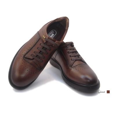 کفش مردانه چرم طبیعی رویال عسلی  ارسال رایگان با گارانتی