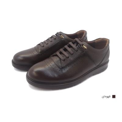 کفش مردانه چرم طبیعی رویال قهوهای  ارسال رایگان با گارانتی
