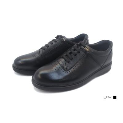 کفش مردانه چرم طبیعی رویال مشکی  ارسال رایگان با گارانتی