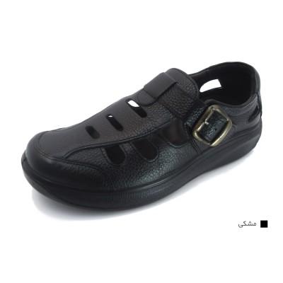 کفش مردانه چرم طبیعی پرفکت تابستانی مشکی ارسال رایگان با گارانتی
