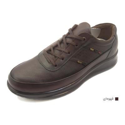 کفش مردانه چرم طبیعی مارکو بندی قهوهای  ارسال رایگان با گارانتی
