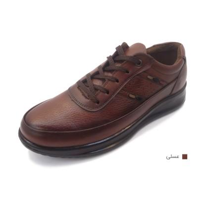 کفش مردانه چرم طبیعی مارکو بندی عسلی  ارسال رایگان با گارانتی