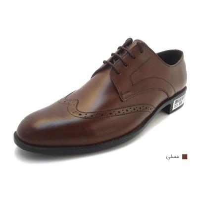 کفش مردانه چرم طبیعی مجلسی آکسفورد عسلی ارسال رایگان با گارانتی