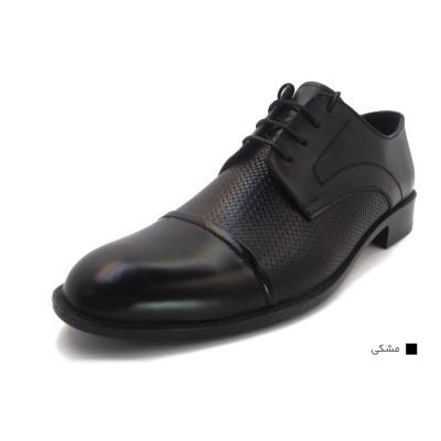 کفش مردانه چرم طبیعی مجلسی مارتین مشکی ارسال رایگان با گارانتی