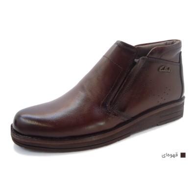 کفش مردانه چرم طبیعی نیم بوت ماهان قهوه ای  ارسال رایگان با گارانتی